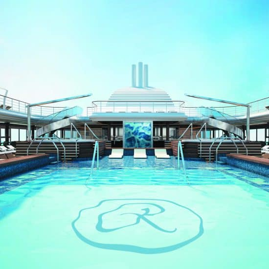 Regent Seven Seas Splendor Pool Deck - Main Pool